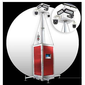 Sicherheit mit Kobiax mobiles Überwachungskamerasystem